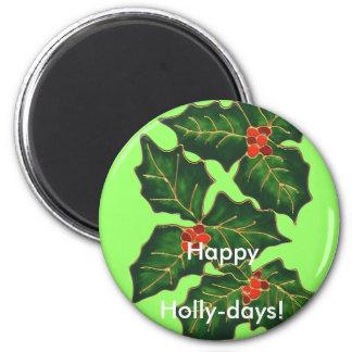 ¡Felices Navidad del button~ feliz de los hollyday Imán Redondo 5 Cm