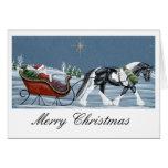 Felices Navidad del caballo gitano de Vanner Tarjetas