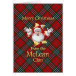 Felices Navidad del clan de McLean Tarjeta De Felicitación