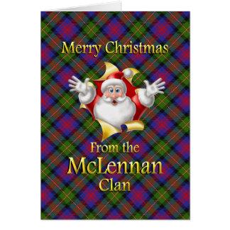Felices Navidad del clan de McLennan Tarjetas