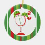 Felices Navidad del cóctel del duende del navidad Adorno De Reyes