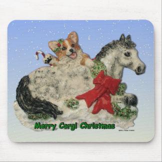¡Felices Navidad del Corgi! Alfombrilla De Ratones