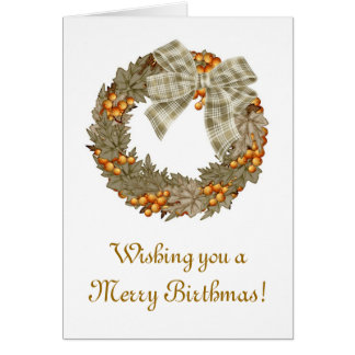 Felices Navidad del cumpleaños de Birthmas Tarjeta De Felicitación