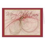 Felices Navidad del ~ de las BOLAS del NAVIDAD Tarjeta De Felicitación
