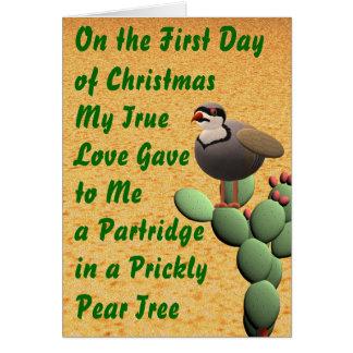 Felices Navidad del desierto Tarjeta De Felicitación