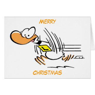 Felices Navidad del dibujo animado del pato Tarjeta De Felicitación