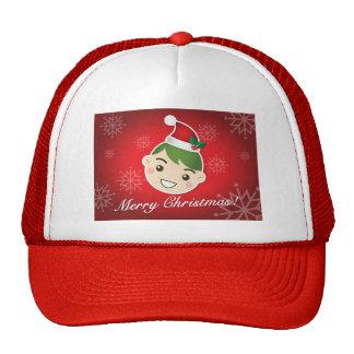 Felices Navidad del duende Gorras De Camionero