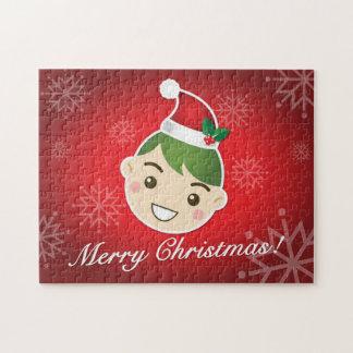 Felices Navidad del duende Puzzles Con Fotos