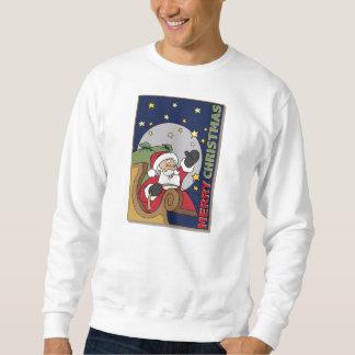 Felices Navidad del ejemplo del trineo de Santa Sudadera Con Capucha
