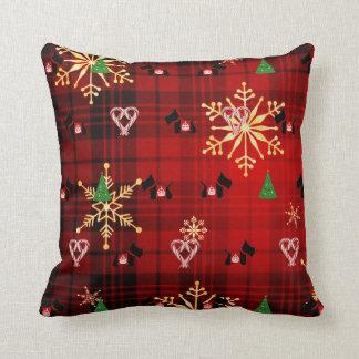Felices Navidad del escocés Cojines