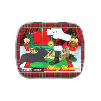 Felices Navidad del escocés Jarrones De Caramelos