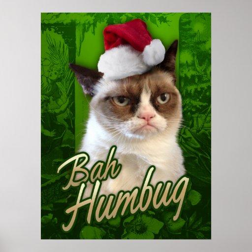 Felices Navidad del gato gruñón/embaucamiento de B Impresiones