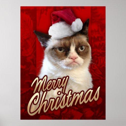 Felices Navidad del gato gruñón Impresiones
