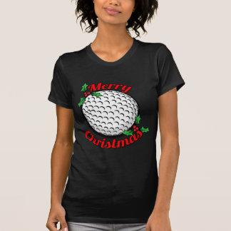 Felices Navidad del golf Playera