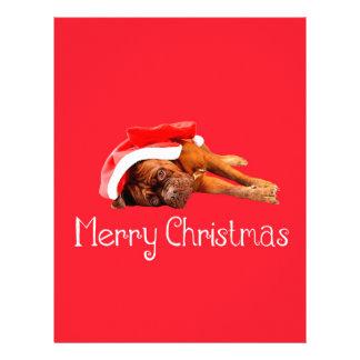 Felices Navidad del gorra de Dogue De Bordeaux Membrete A Diseño