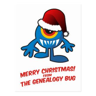 ¡Felices Navidad! Del insecto de la genealogía Tarjeta Postal