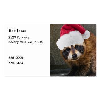 Felices Navidad del mapache Tarjetas De Visita