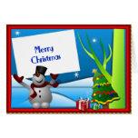 Felices Navidad del muñeco de nieve Felicitacion