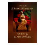 Felices Navidad del muñeco de nieve - mis padres Felicitación