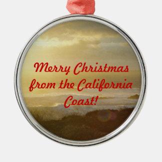 Felices Navidad del ornamento de la costa de Calif Adorno