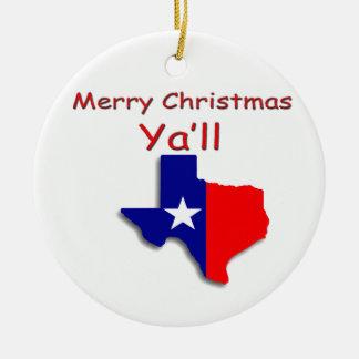 Felices Navidad del ornamento de Tejas Ornato