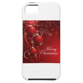 Felices Navidad del ornamento rojo iPhone 5 Funda