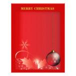 Felices Navidad del papel con membrete Plantilla De Membrete