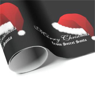 Felices Navidad del papel de embalaje de Santa Papel De Regalo