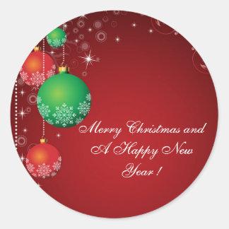 """¡Felices Navidad del pegatina """"y una Feliz Año"""