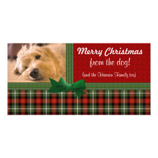 Felices Navidad del personalizado del perro Tarjetas Personales