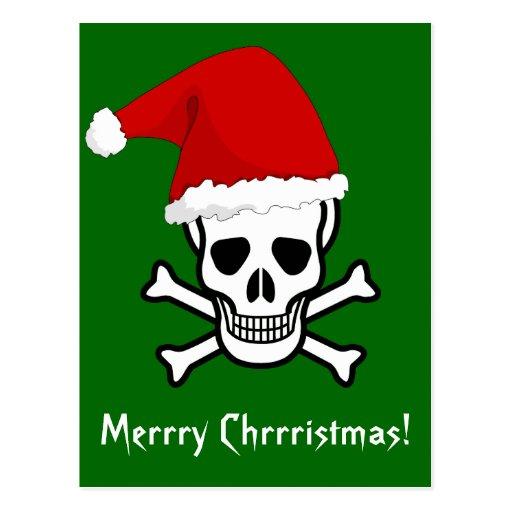 Felices Navidad del pirata divertido que saludan A Postales