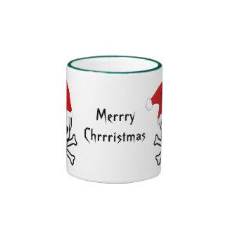Felices Navidad del pirata divertido que saludan A Taza A Dos Colores