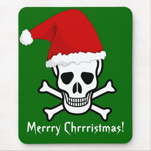 Felices Navidad del pirata divertido que saludan Alfombrillas De Ratón