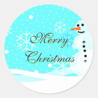 Felices Navidad del sello del sobre del pegatina