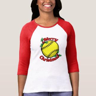 Felices Navidad del softball Playera