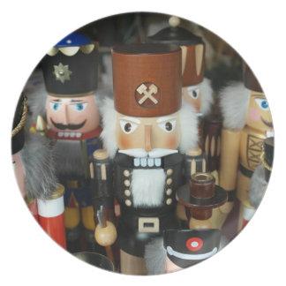 Felices Navidad del soldado de juguete buenas Plato De Comida