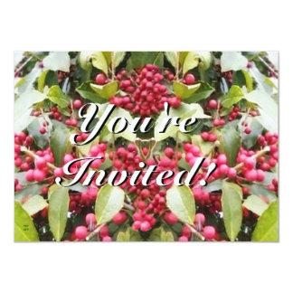 Felices Navidad del solsticio de invierno de la Invitación 11,4 X 15,8 Cm