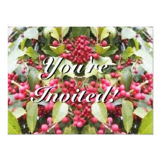 Felices Navidad del solsticio de invierno de la Invitación 16,5 X 22,2 Cm