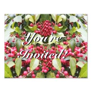 Felices Navidad del solsticio de invierno de la Invitación 10,8 X 13,9 Cm