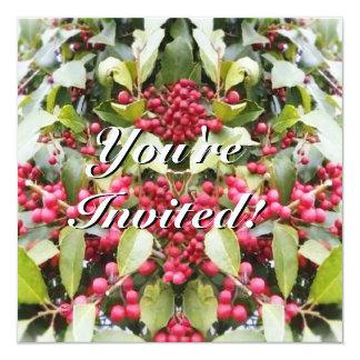 Felices Navidad del solsticio de invierno de la Invitación 13,3 Cm X 13,3cm