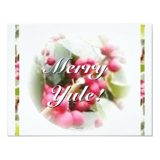 Felices Navidad del solsticio de la baya de Yule Invitación 10,8 X 13,9 Cm