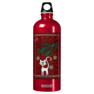 Felices Navidad del tintineo hecho a mano del Botella De Agua