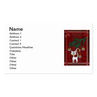 Felices Navidad del tintineo hecho a mano del gati Plantillas De Tarjetas Personales
