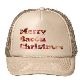 Felices Navidad del tocino Gorro