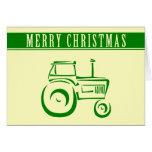 Felices Navidad del tractor de granja Felicitacion
