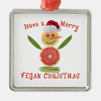 Felices Navidad del vegano Adorno De Reyes