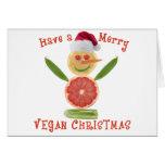 Felices Navidad del vegano Felicitaciones