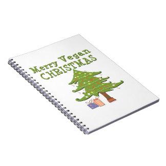 Felices Navidad del vegano Libros De Apuntes