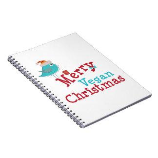 Felices Navidad del vegano Libros De Apuntes Con Espiral