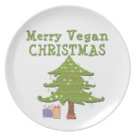 Felices Navidad del vegano Plato